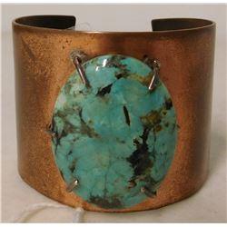 Mexican Copper & Turquoise Bracelet