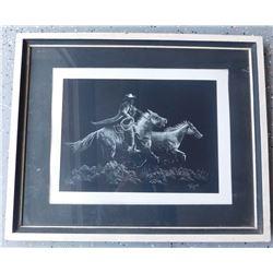 Framed Cowboy Print