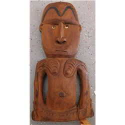 New Guinea Wood Figure w/Helm COA