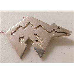 Sterling Silver Zuni Bear Pin