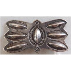 Old Sterling Silver Handstamped Pin