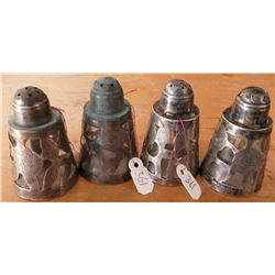 4 Mexican S.S. Salt & Pepper Shakers