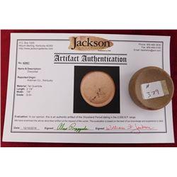 Discoidal Stone w/Jackson COA