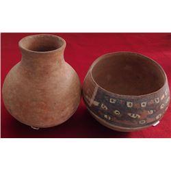 2 Pre-Columbian Pots