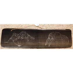 Baleen Scrimshaw Plate