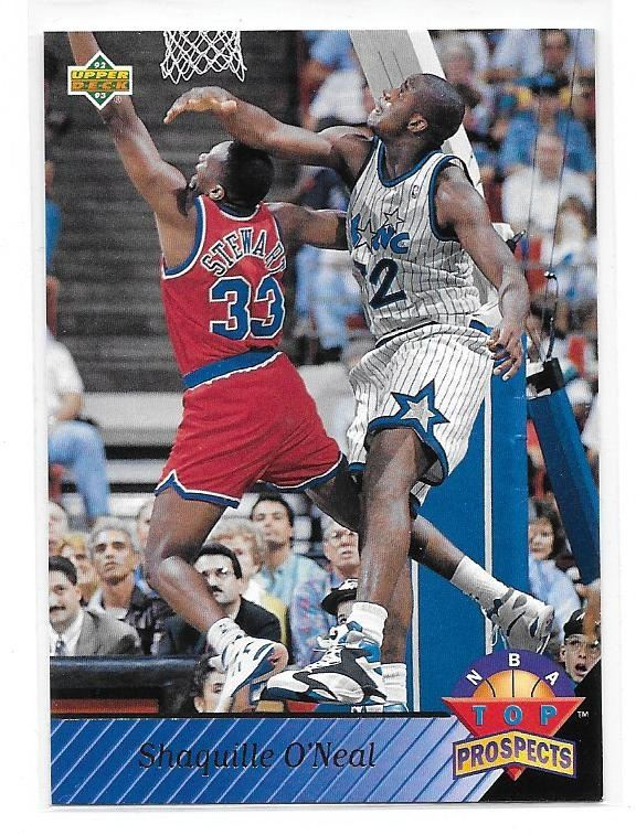 1992 93 Upper Deck Top Prospects Shaquille Oneal Rookie Card 474