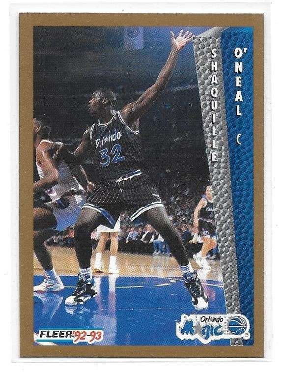 1992 93 Fleer Shaquille Oneal Rookie Card 401