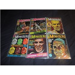FAMOUS MONSTERS OF FILMLAND #050 - #059 LOT OF 6 ISSUES