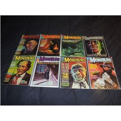 FAMOUS MONSTERS OF FILMLAND #060 - #069 LOT OF 8 ISUUES