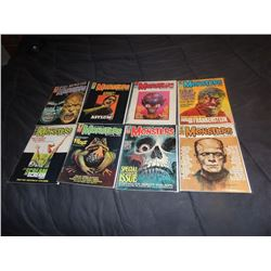 FAMOUS MONSTERS OF FILMLAND #090 - #099 LOT OF 8 ISSUES