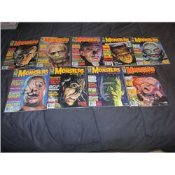 FAMOUS MONSTERS OF FILMLAND #210 - #219 LOT OF 9 ISSUES