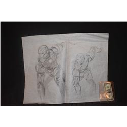 IRON MAN ORIGINAL STUDIO HAND DRAWN CONCEPT ART #5 & #6