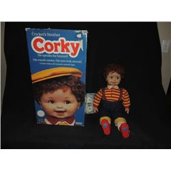 CHILD'S PLAY 1 ORIGINAL CORKY DOLL IN BOX USED BY KEVIN YAHGER TO CREATE CHUCKY