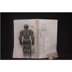 IRON MAN ORIGINAL STUDIO HAND DRAWN CONCEPT ART 4