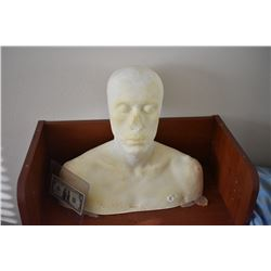 Z-CLEARANCE DISPLAY BUST FOR MASKS HATS WIGS SCULPTING ETC 3