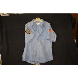 SPIDER-MAN 3 SCREEN USED NEW YORK POLICE SHIRT WITH PATCHES