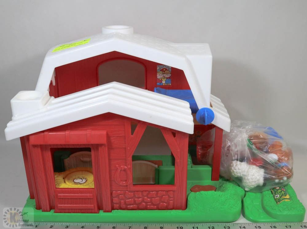 Vintage Fisher Price Farm House With Original