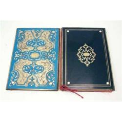 A late 19th century French boulle paper blotter, one side ebonised, the other with a blue composi...