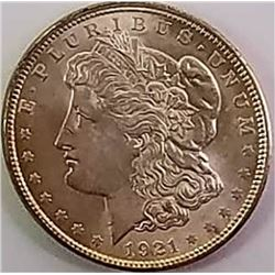 Morgan Silver Dollar 1921.