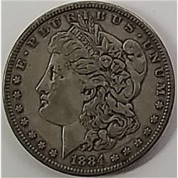 Morgan Silver Dollar 1884.