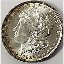 Morgan Silver Dollar 1887.