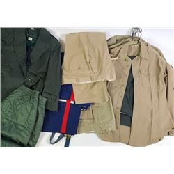 Collection of misc. military uniforms.