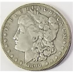 Morgan Silver Dollar 1890 O.