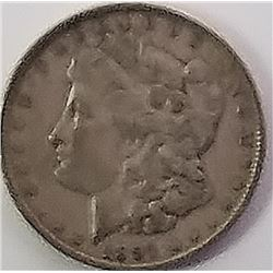 Morgan Silver Dollar 1891.