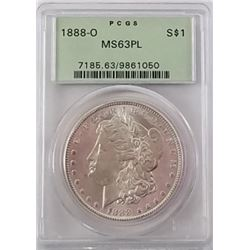 Morgan Silver Dollar 1888 O MS 63.