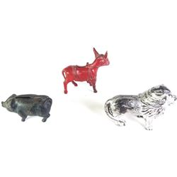 Collection of 3 animal banks the first in the