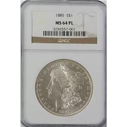 Morgan Silver Dollar 1885 MS 64.