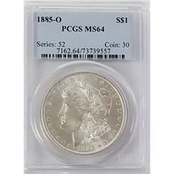 Morgan Silver Dollar 1885 O MS 64