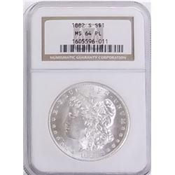 Morgan Silver Dollar 1882 S MS 64 PL