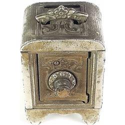 Kenton nickel plated safe bank pat'd 1911