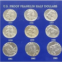 US proof Franklin half dollar set