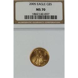 2005 5$ Gold Eagle MS 70