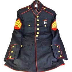 Vintage USMC dress blues, includes wool
