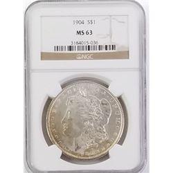 Morgan Silver Dollar 1904 MS 63