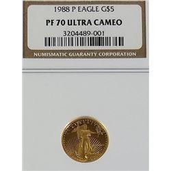 1988 P Gold Eagle 5$ PF70 Ultra Cameo
