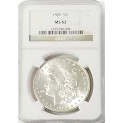 Morgan Silver Dollar 1899 MS 62
