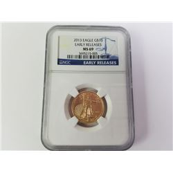 2013 Gold Eagle 10$ Early releases MS69