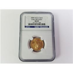2009 Gold Eagle 10$ Early releases MS 69