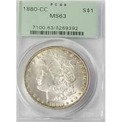 Morgan Silver Dollar 1880 CC MS 63