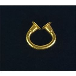 Solid gold Columbian Sinu nose ring or