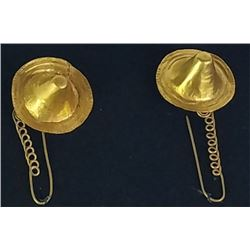 Solid gold Calima earrings weighing 10 grams