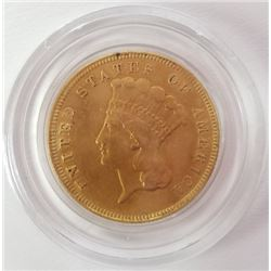 1874 3$ Indian Princess Gold Piece