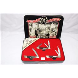 """3 Knife Pack Scharbe Old Timer Limited Edition """"2012"""" in Case"""
