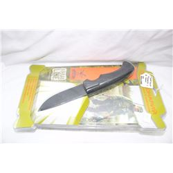 """4"""" Drop Point Blade with Sheath & Light .440 Steel"""