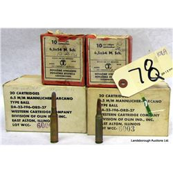 BOX LOT EUROPEAN 6.5MM AMMUNITION