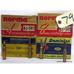 BOX LOT 6.5MM AMMUNITION